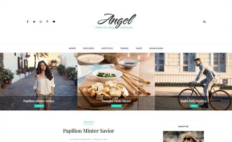 Angel-800x490 - 53+ Top BEST Free Minimalist Blogger Templates [year]