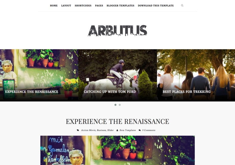 Arbutus-Blogger-Template-2 - 54+ Top BEST Free One Page Blogger Templates [year]