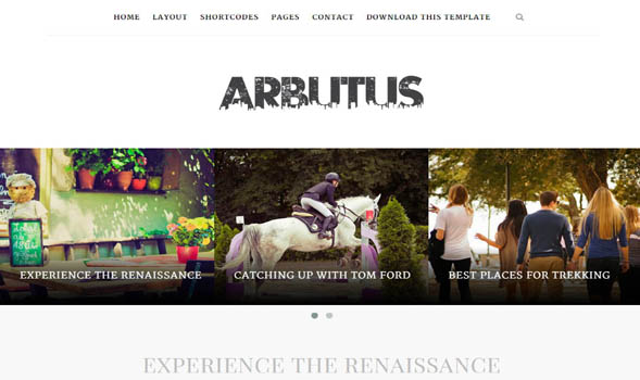 Arbutus-Blogger-Template - 50+ Top Free Portfolio Blogger Templates 2019
