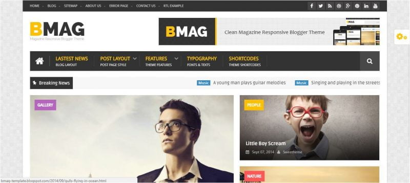 BMAG-800x358 - 53+ Top BEST Free Minimalist Blogger Templates [year]