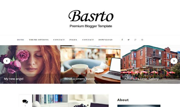Bastro-Blogger-Template - 50+ Top Free Portfolio Blogger Templates 2019