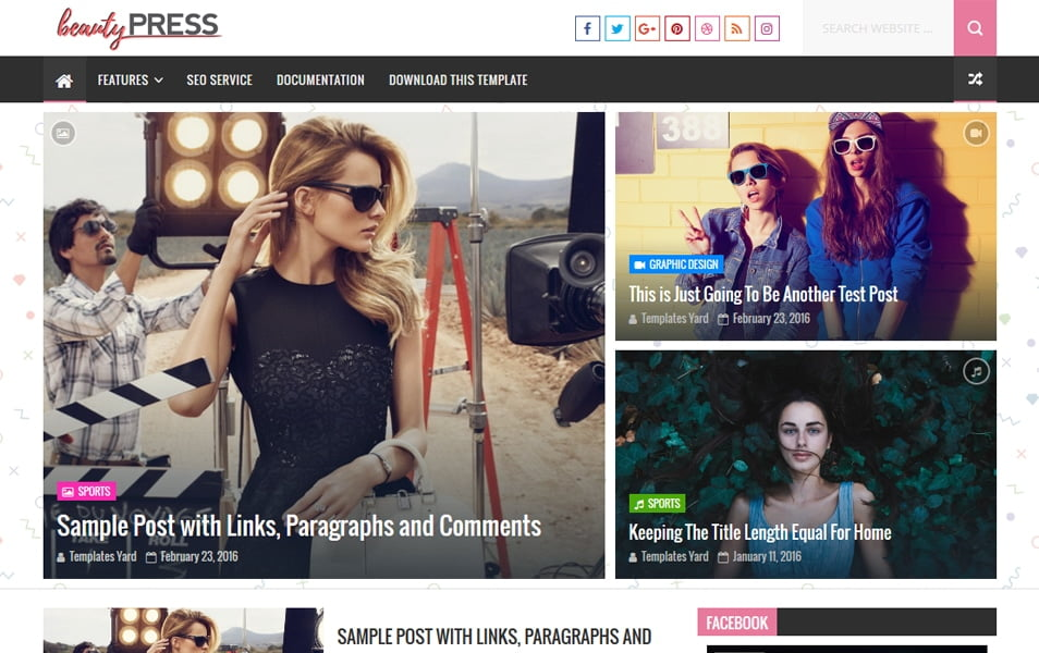 BeautyPress-Stylish-Blogger-Template - 111+ Blogger Top Free Magazine Style Templates [year]
