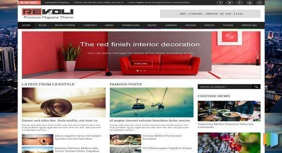 Best-Gallery-Style-Blogger-Templates-6 - 50+ Top Free Grid Style Blogger Templates 2019