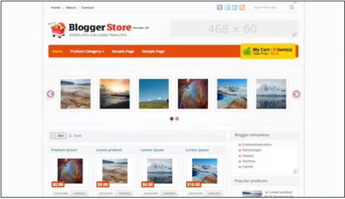 Blogger-Store - 50+ Top Free Web 2.0 Blogger Templates [year]
