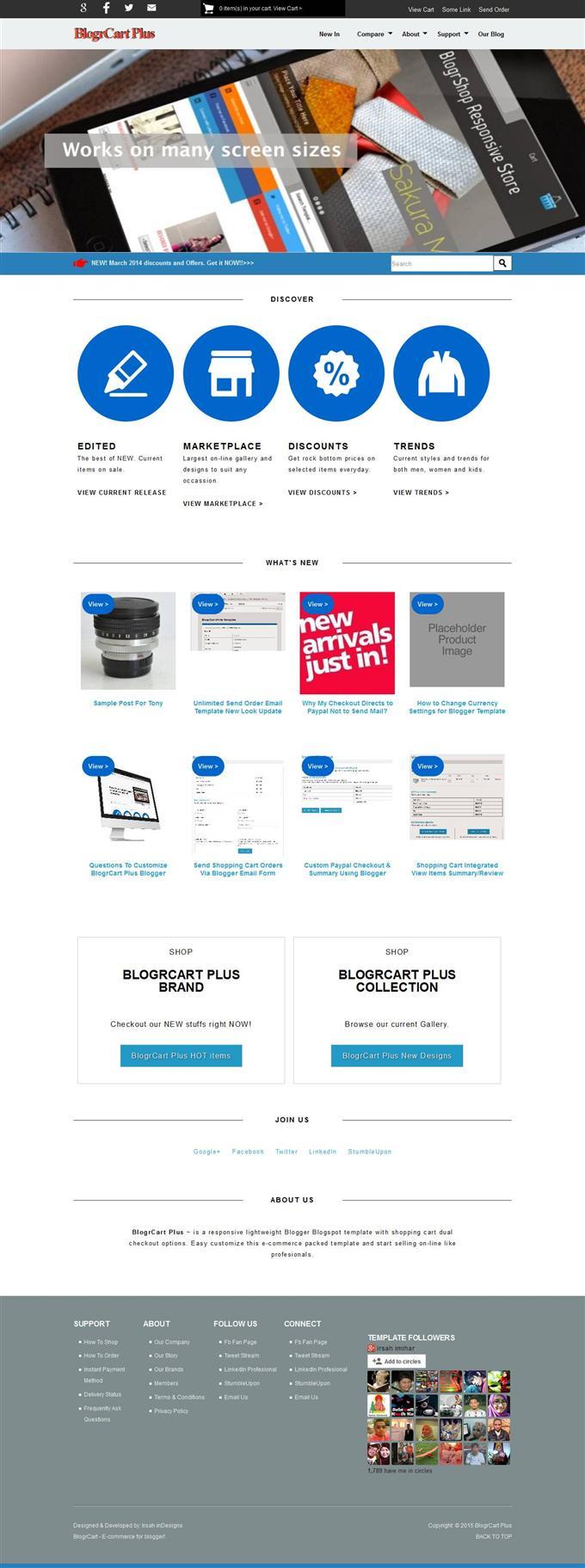 Blogr-Cart-Plus-E-commerce-Theme-Custom - 60+ Top Free Ecommerce Blogger Templates [year]