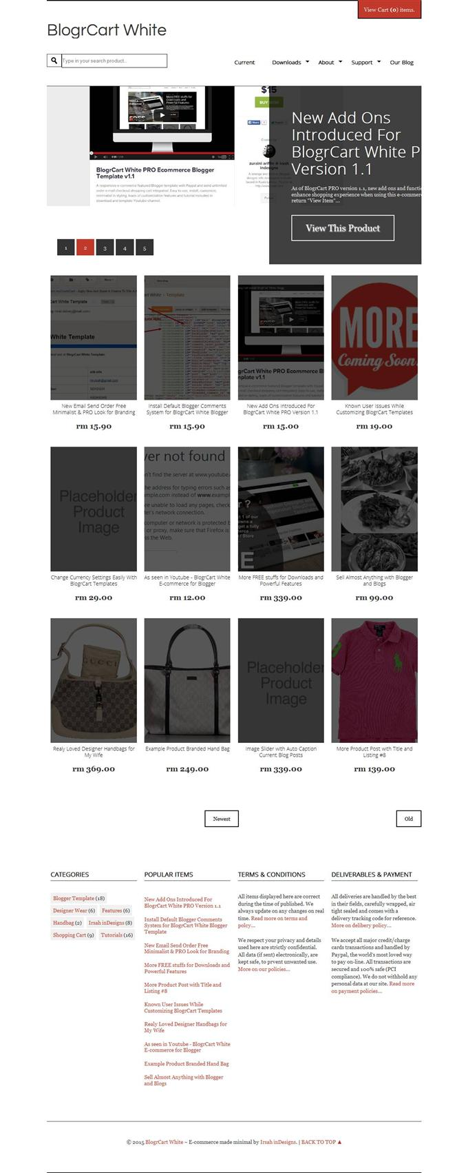 BlogrCart-Shopping-Blogger-Templates-Custom - 60+ Top Free Ecommerce Blogger Templates [year]