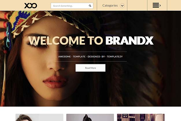 BrandX-Blogger-Template - 50+ Top Free Portfolio Blogger Templates 2019