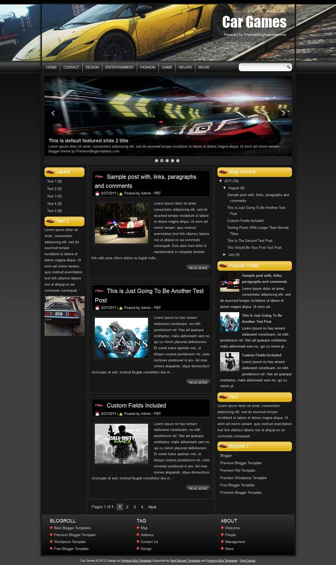 Car-Games-Blogger-Template-Custom-1 - 50+ Top Free Gaming Responsive Blogger Templates 2019
