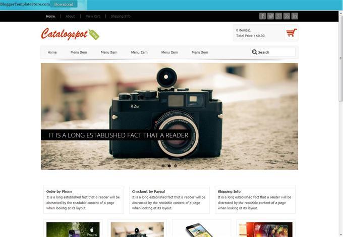 Catalogspot-Revo-Custom - 60+ Top Free Ecommerce Blogger Templates [year]