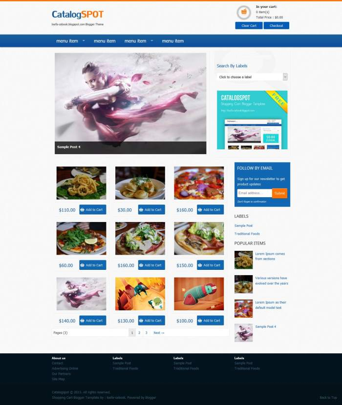 Catalogspot-eCommerce-Blogger-Template-1 - 60+ Top Free Ecommerce Blogger Templates [year]