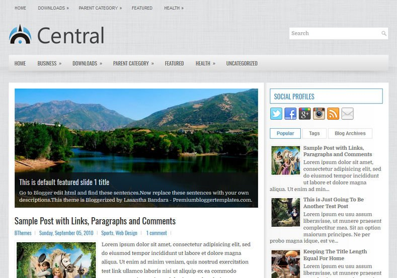 Central-Blog-Blogger-Template - 50+ Top Free Web 2.0 Blogger Templates [year]