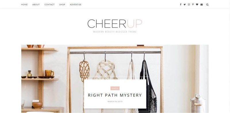 Cheerup-800x393 - 53+ Top BEST Free Minimalist Blogger Templates [year]