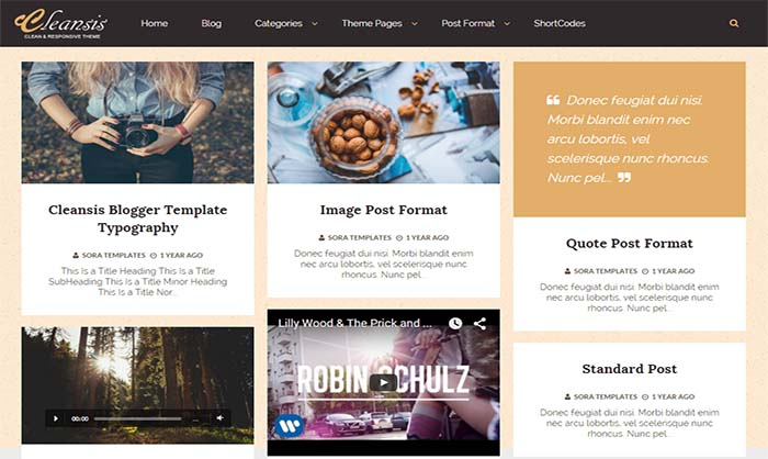 Cleansis-Blogger-Template - 50+ Top Free Portfolio Blogger Templates 2019
