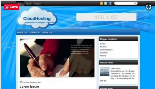 CloudHosting - 50+ Top Free Web 2.0 Blogger Templates [year]