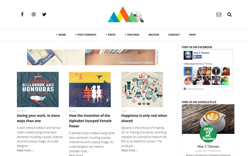 Craper-Responsive-Blogger-Template - 50+ Top Free Grid Style Blogger Templates 2019