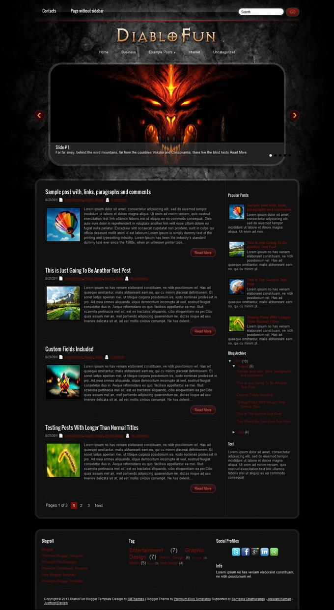 DiabloFun-Blogger-Template-Custom-1 - 50+ Top Free Gaming Responsive Blogger Templates 2019