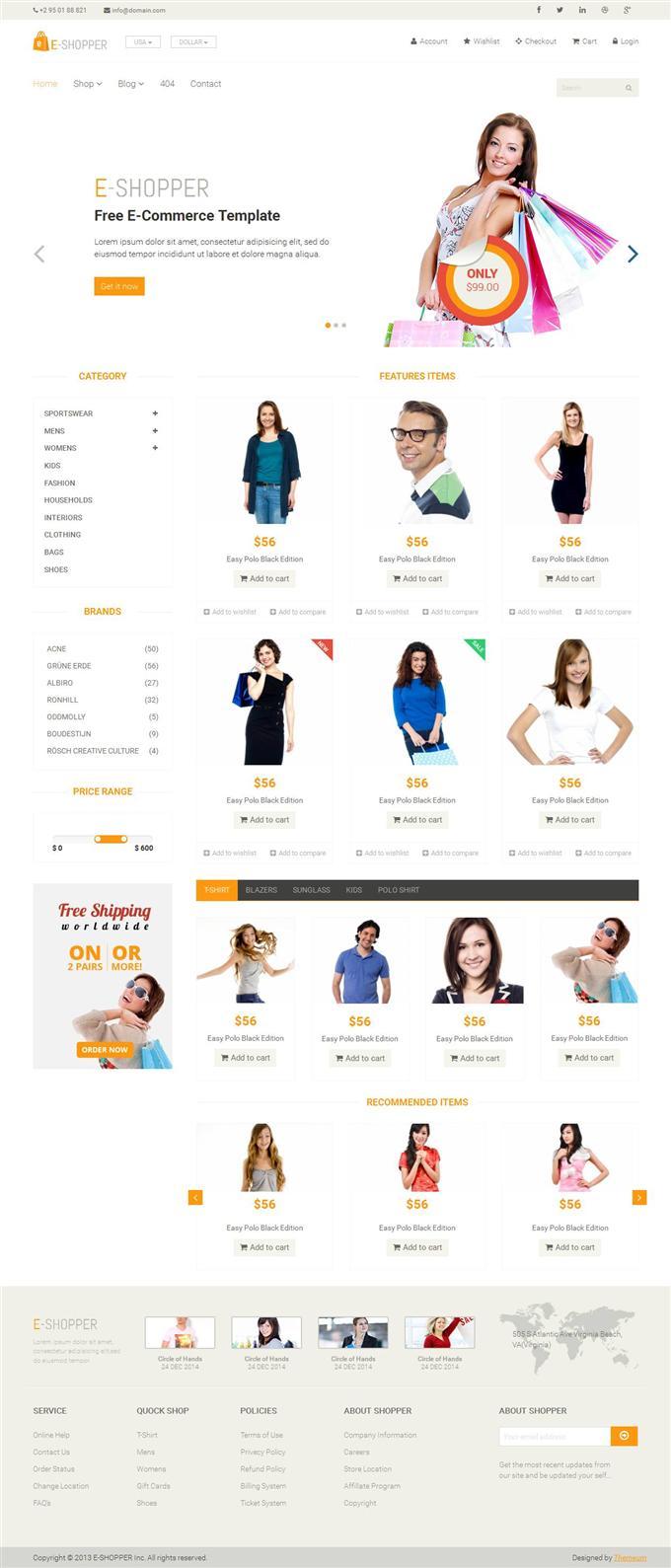 E-Shopper-Ecommerce-Blogger-Template-Custom - 60+ Top Free Ecommerce Blogger Templates [year]