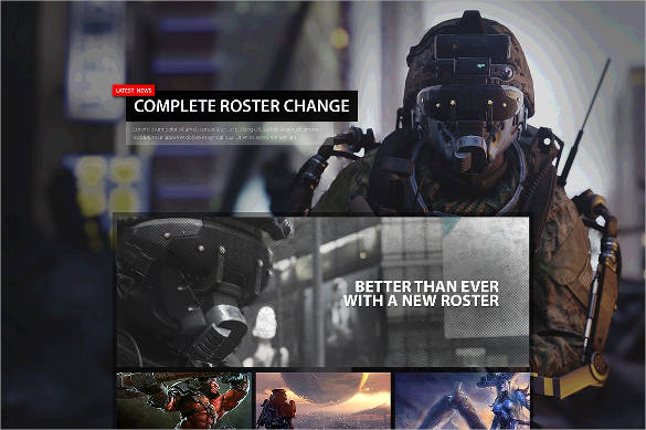 E-Sports-Organization-Website-Theme-Template - 50 Best Gaming HTML Website Templates 2019