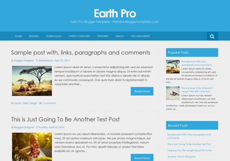 Earth-Pro-Blogger-Template-2 - 50+ Top Free Web 2.0 Blogger Templates [year]