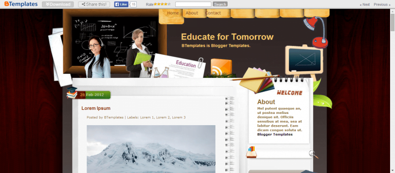 Educate-for-Tomorrow-800x351 - 50+ Top Free Education Blogger Templates 2019