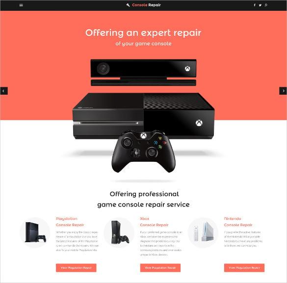 Elegant-Video-Games-Website-Template - 50 Best Gaming HTML Website Templates 2019