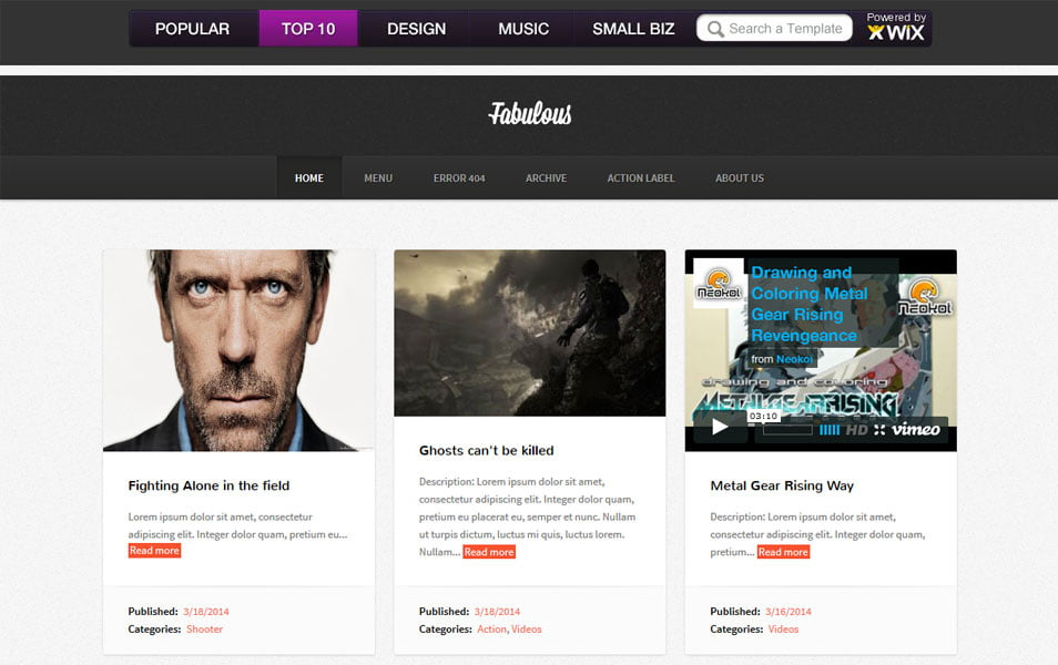 Fabulous-Responsive-Blogger-Template2 - 53+ Blogger Top Free Grid Style Templates [year]