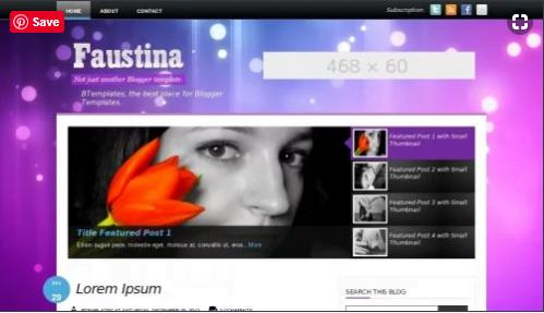 Faustina - 50+ Top Free Web 2.0 Blogger Templates 2019