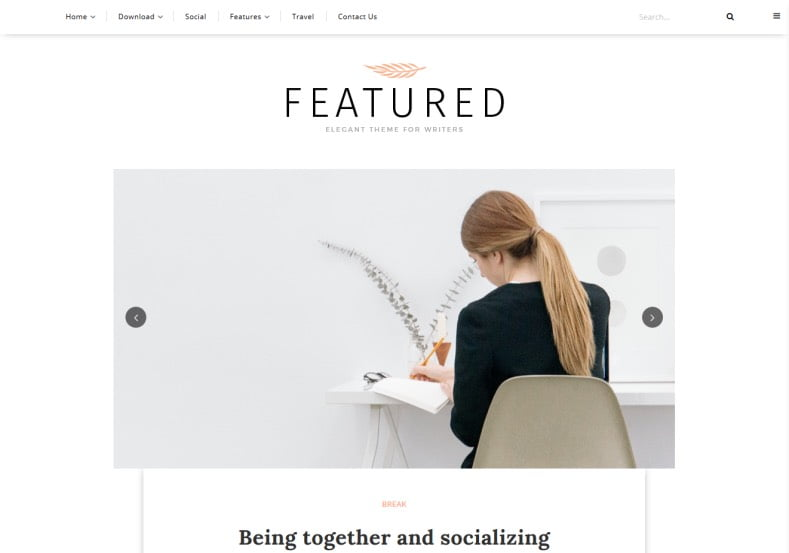 Featured-Blogger-Template - 54+ Top BEST Free One Page Blogger Templates [year]