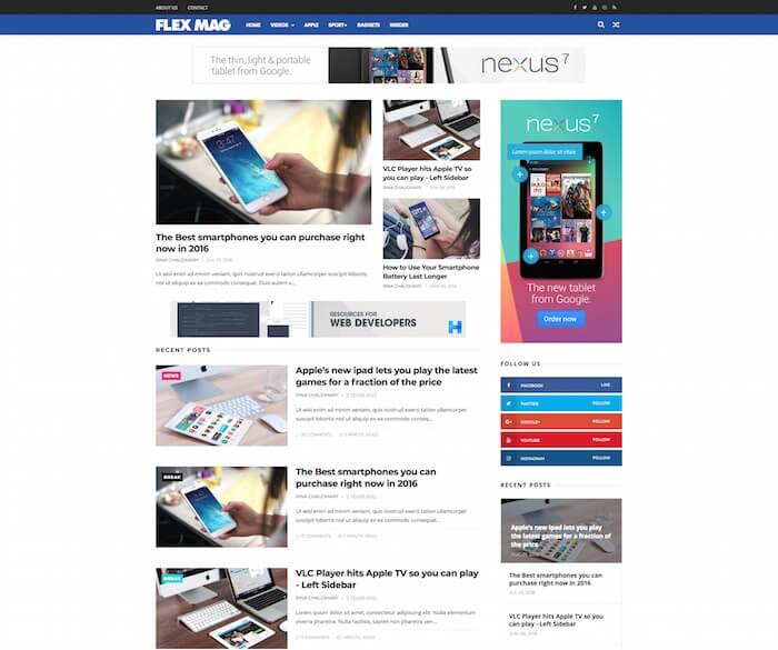 Flexi-Mag-Blogger-Template - 53+ Top BEST Free Minimalist Blogger Templates [year]