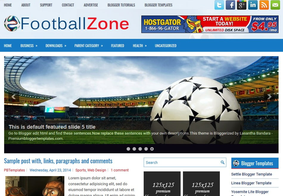 FootballZone-Blogger-Template - 50+ Top Free 3D Blogger Templates 2019