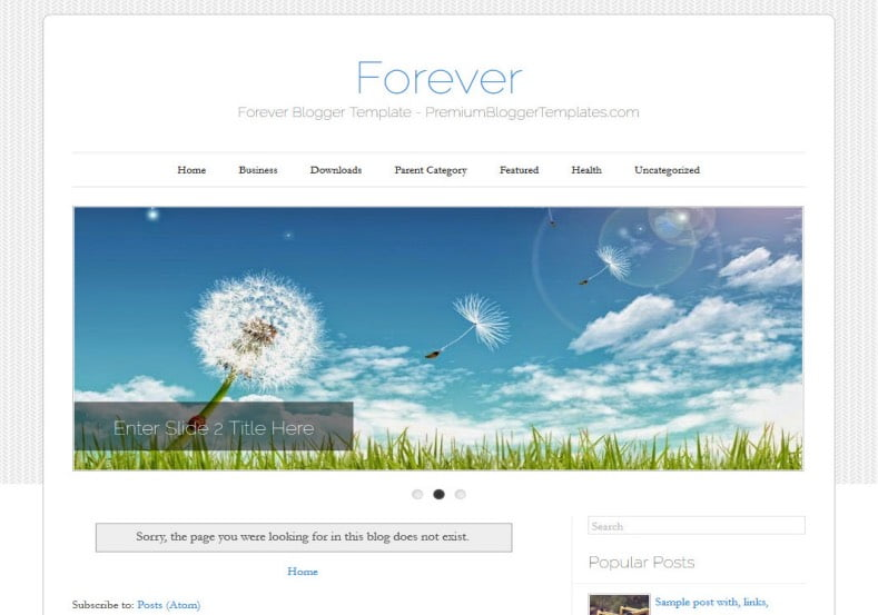 Forever-Blogger-Template-2 - 50+ Top Free Web 2.0 Blogger Templates [year]