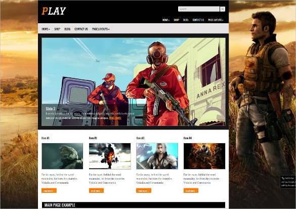 Free-Creative-Gaming-Website-Template - 50 Best Gaming HTML Website Templates 2019