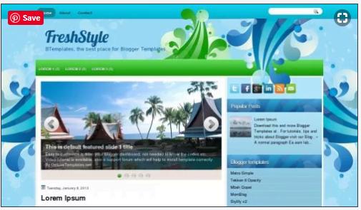 FreshStyleFreshStyle - 50+ Top Free Web 2.0 Blogger Templates 2019