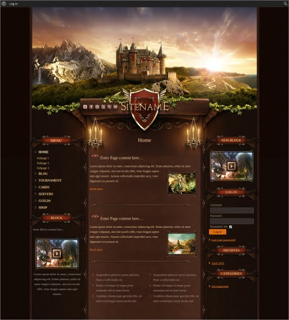 Game-Catle-Joomla-Website-Template - 57+ Best Gaming HTML Website Templates [year]