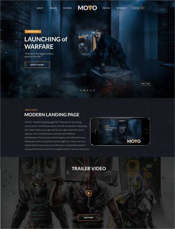 Game-Landing-Page-Website-Template1 - 57+ Best Gaming HTML Website Templates [year]
