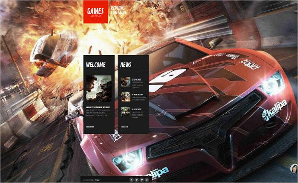 Game-News-Website-Template - 50 Best Gaming HTML Website Templates 2019