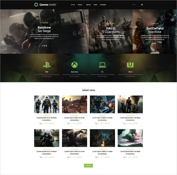 Game-Portal-Joomla-Website-Template - 57+ Best Gaming HTML Website Templates [year]