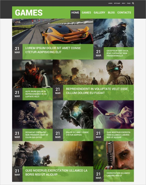 Game-Portal-Responsive-Joomla-Template-1 - 57+ Best Gaming HTML Website Templates [year]