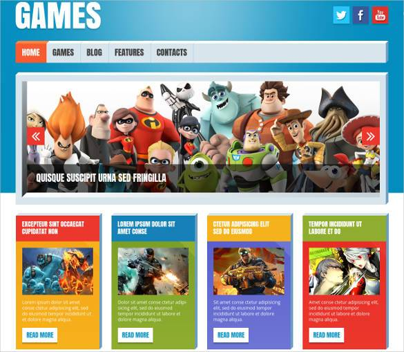 Game-Review-Website-WordPress-Theme1 - 50 Best Gaming HTML Website Templates 2019