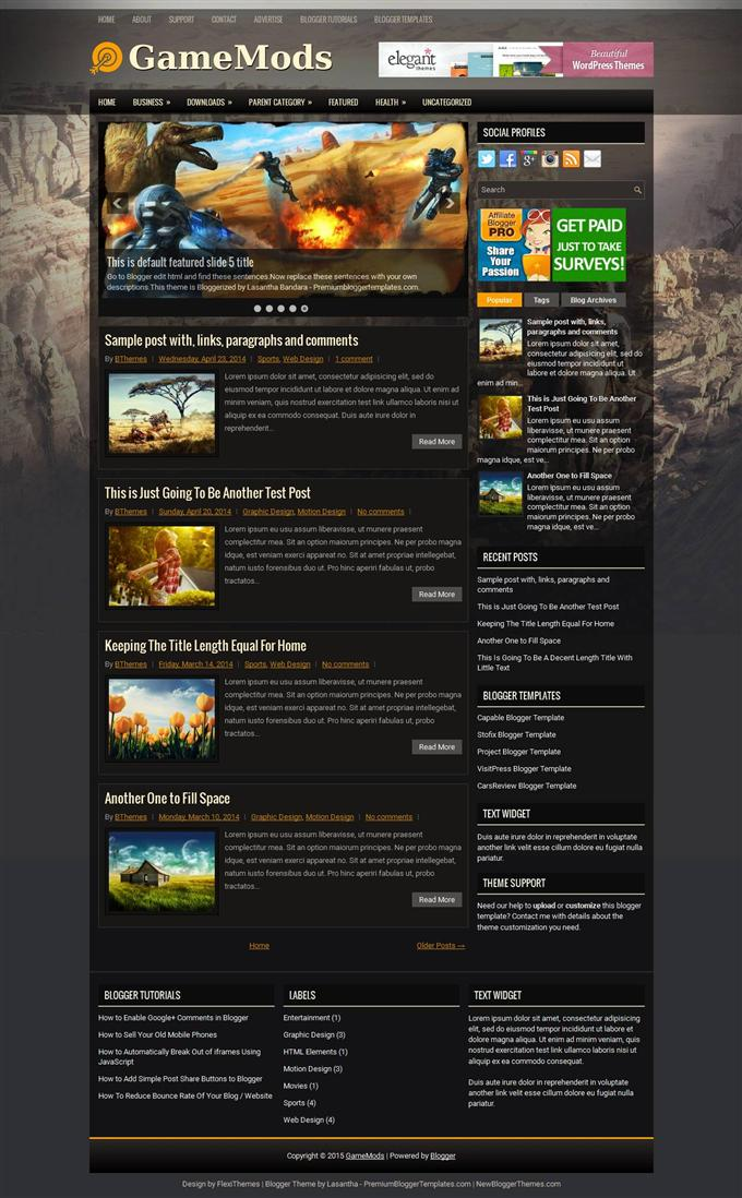 GameMods-Blogger-Template-Custom-4 - 50+ Top Free Gaming Responsive Blogger Templates 2019