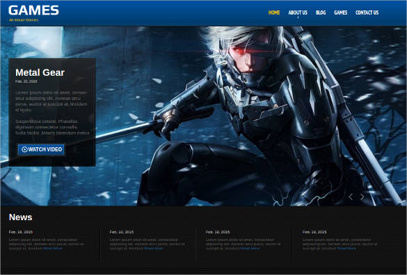 Games-HTML-Website-Theme - 50 Best Gaming HTML Website Templates 2019