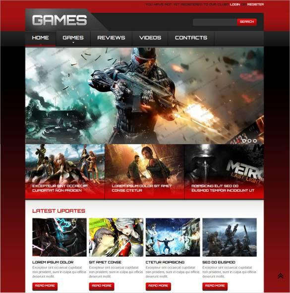 Games-Responsive-Website-Template11 - 57+ Best Gaming HTML Website Templates [year]