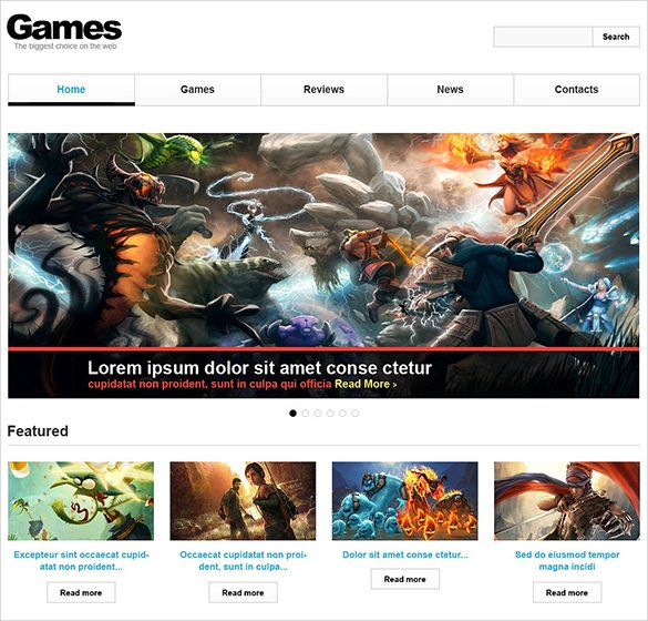 Games-Responsive-Website-The - 57+ Best Gaming HTML Website Templates [year]