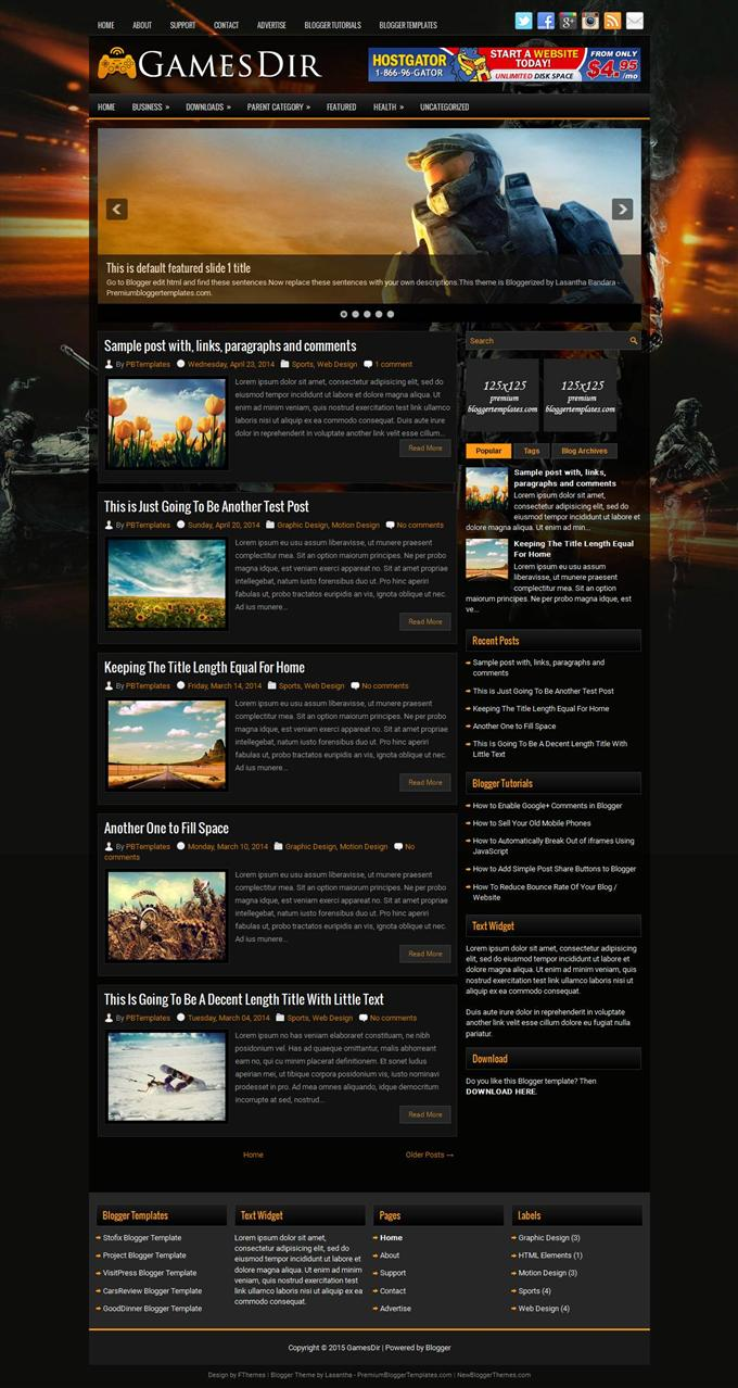 GamesDir-Blogger-Template-Custom-2 - 50+ Top Free Gaming Responsive Blogger Templates 2019