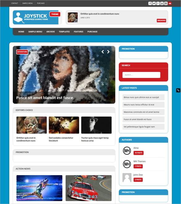 Gaming-WordPress-Website-Theme - 50 Best Gaming HTML Website Templates 2019