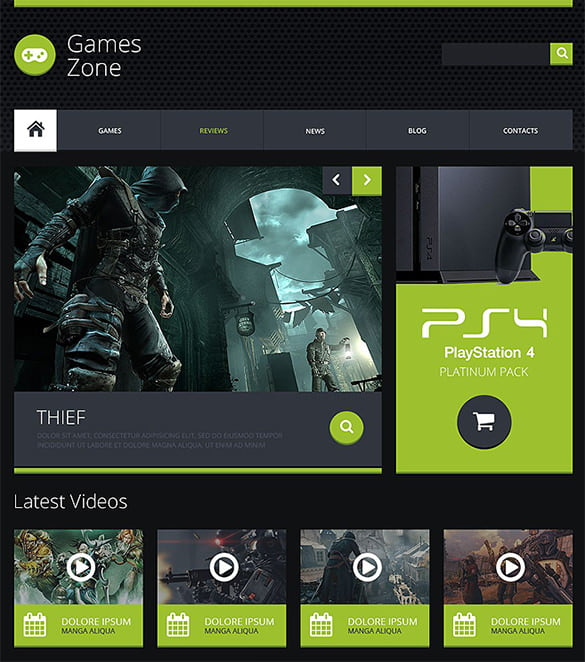 Gaming-Zone-Website-Template - 50 Best Gaming HTML Website Templates 2019