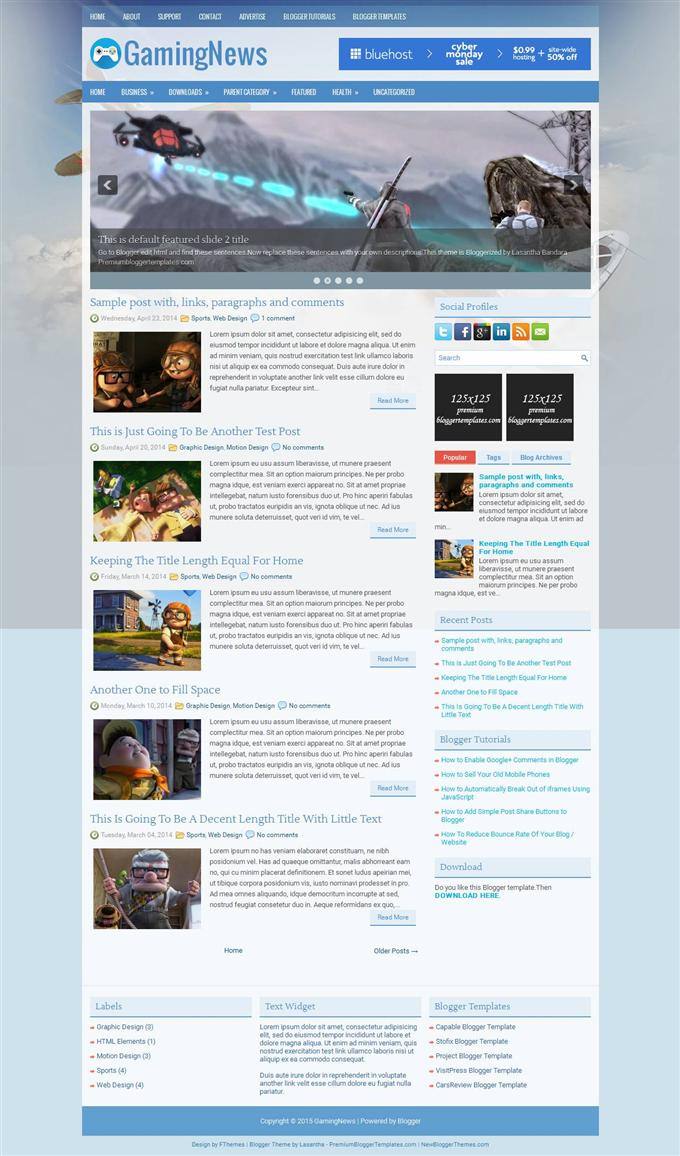 GamingNews-Blogger-Template-Custom - 50+ Top Free Gaming Responsive Blogger Templates 2019