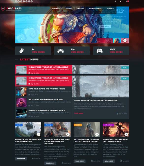 GoodGames-Portal-Store-HTML-Gaming-Template11 - 50 Best Gaming HTML Website Templates 2019
