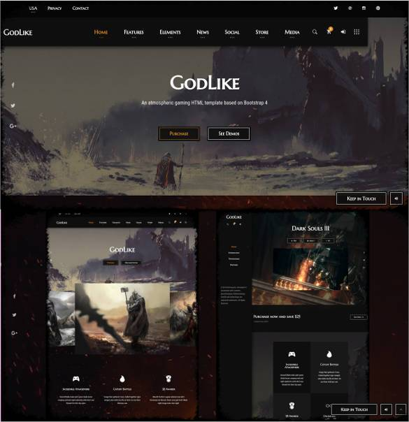 GoodGames-Portal-Store-HTML-Gaming-Template2-2 - 50 Best Gaming HTML Website Templates 2019