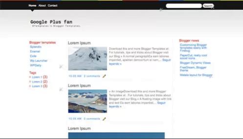 Google-Plus-fan - 50+ Top Free Web 2.0 Blogger Templates 2019
